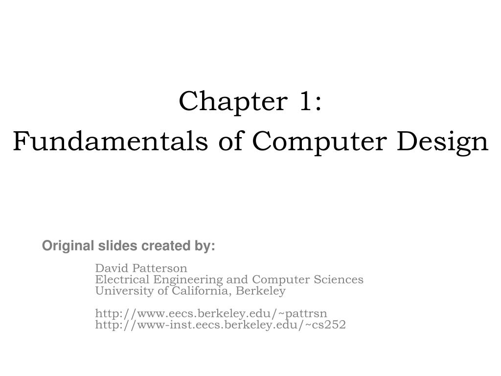 chapter 1 fundamentals of computer design l.