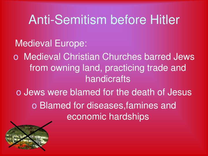 Anti semitism before hitler