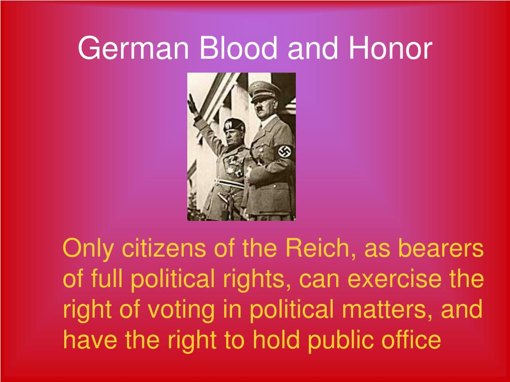 German Blood and Honor