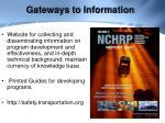 gateways to information