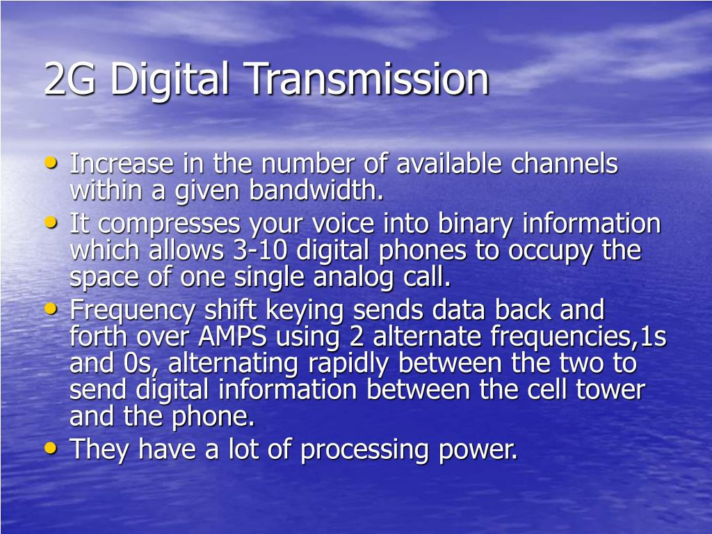 2G Digital Transmission