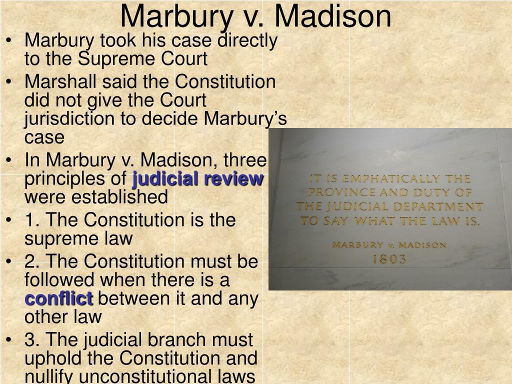 case brief summary marbury v madison