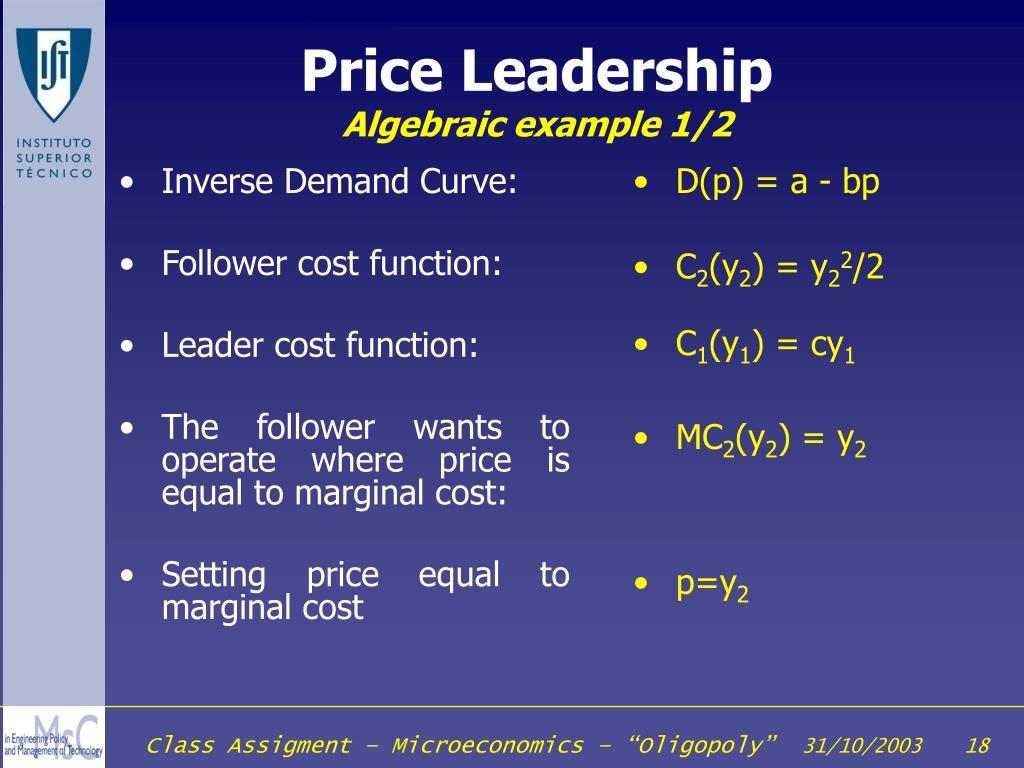 Inverse Demand Curve:
