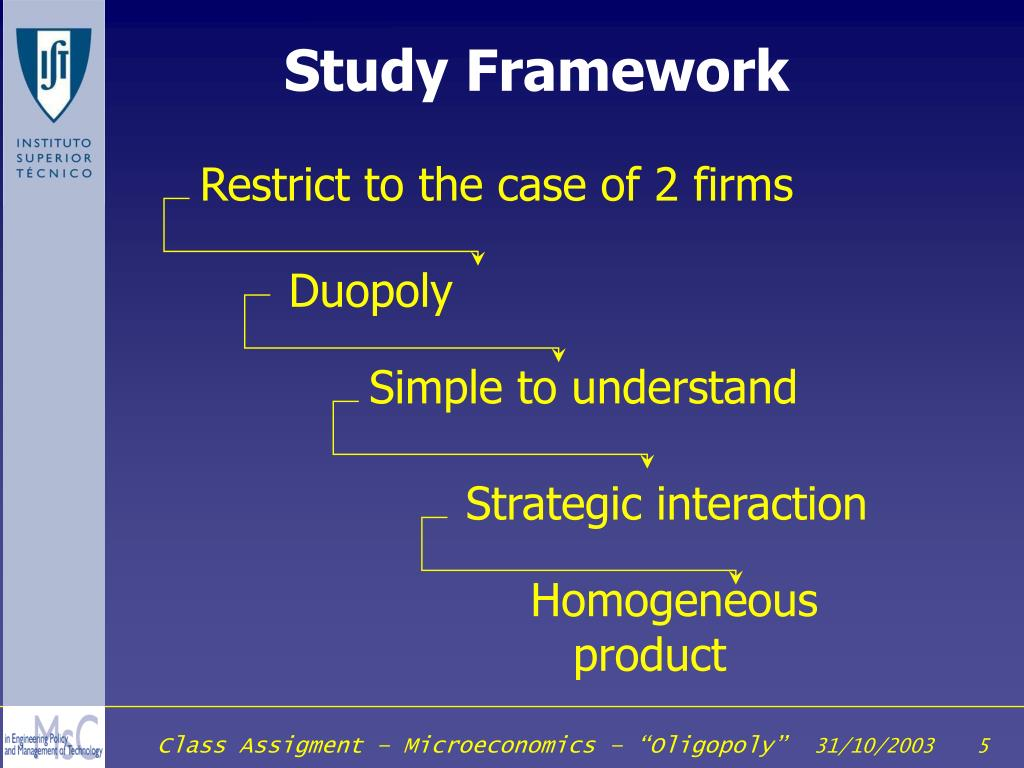 Restrict to the case of 2 firms