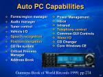 auto pc capabilities