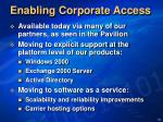 enabling corporate access