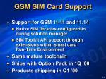 gsm sim card support
