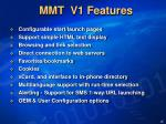 mmt v1 features
