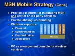 msn mobile strategy cont