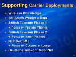 supporting carrier deployments