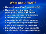 what about wap
