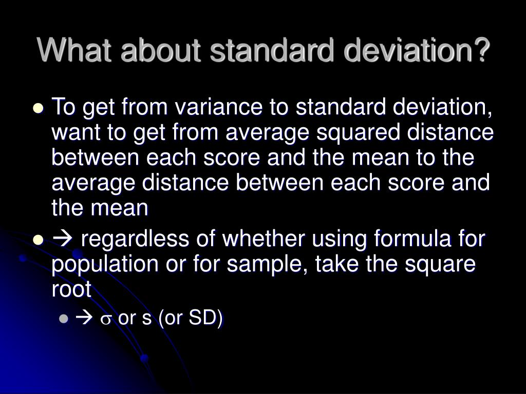 What about standard deviation?