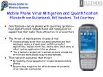 mobile phone virus mitigation and quantification elizabeth van ruitenbeek bill sanders tod courtney