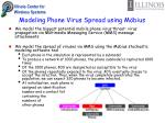 modeling phone virus spread using m bius