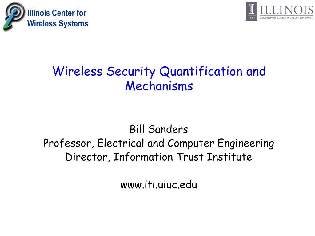 wireless security quantification and mechanisms l.