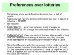 preferences over lotteries