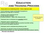 education and training process
