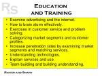 education and training40