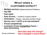 what does a customer expect