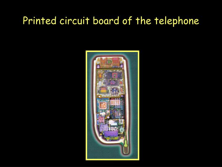 Printed circuit board of the telephone