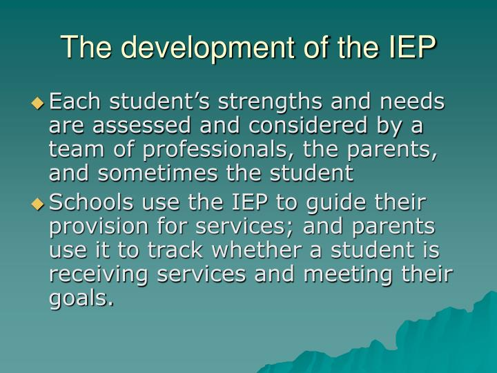 the role of the iep Questions regarding the role of school counselors in the special  the school  counselor being present at iep team meetings where it may be.