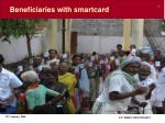 beneficiaries with smartcard
