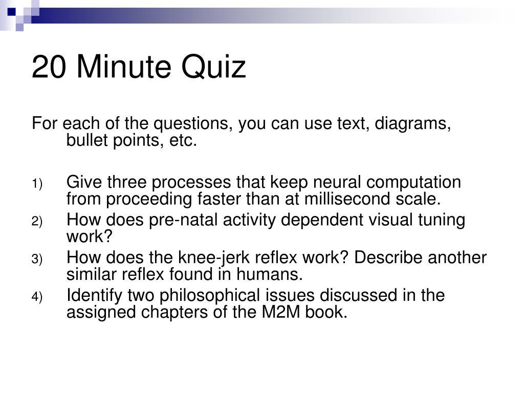 PPT - 20 Minute Quiz PowerPoint Presentation - ID:424746