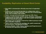 scalability replication of smart work center