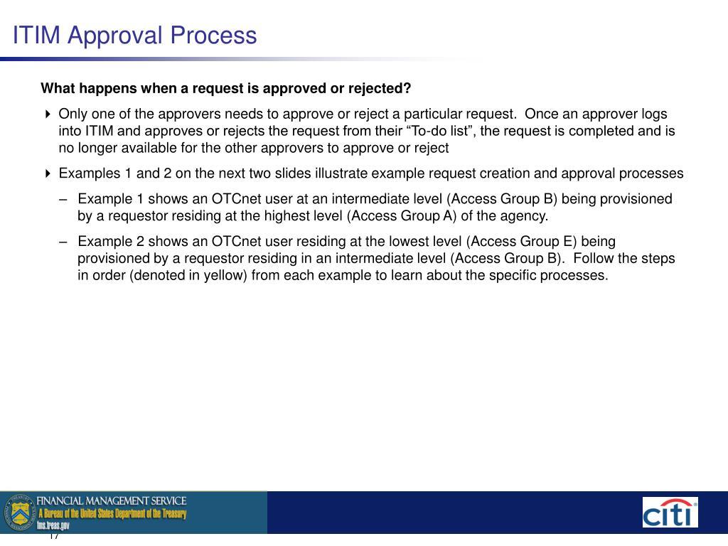 ITIM Approval Process
