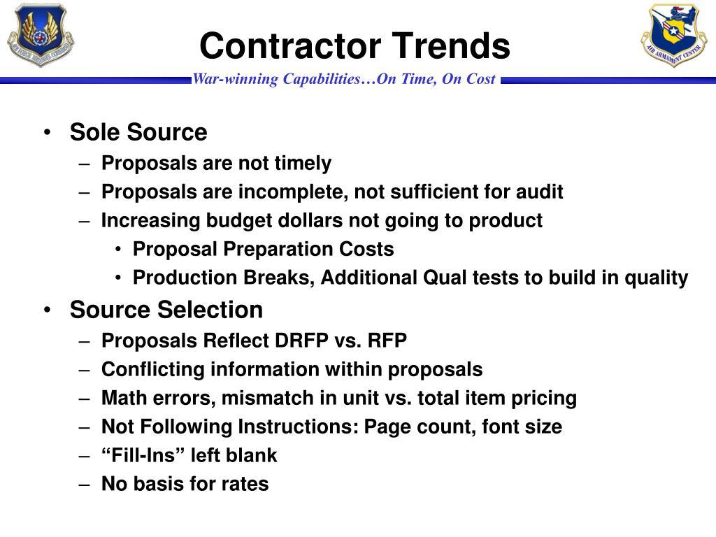 Contractor Trends