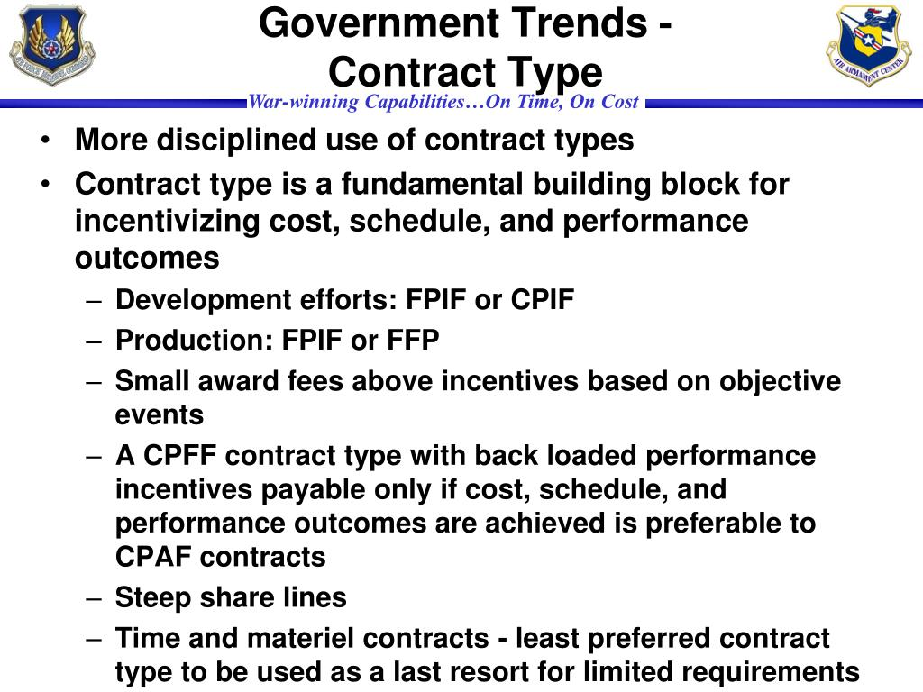 Government Trends - Contract Type