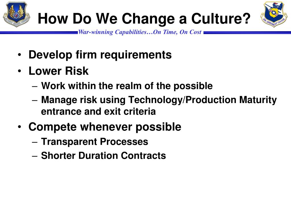 How Do We Change a Culture?