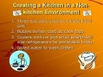 creating a kitchen in a non kitchen environment