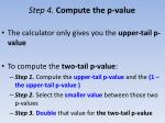 step 4 compute the p value22