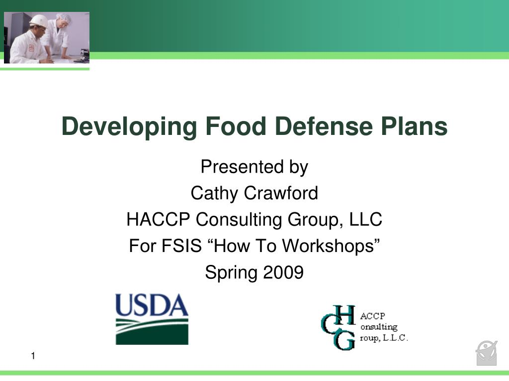 developing food defense plans l.