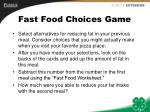 fast food choices game17