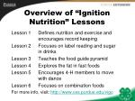 overview of ignition nutrition lessons