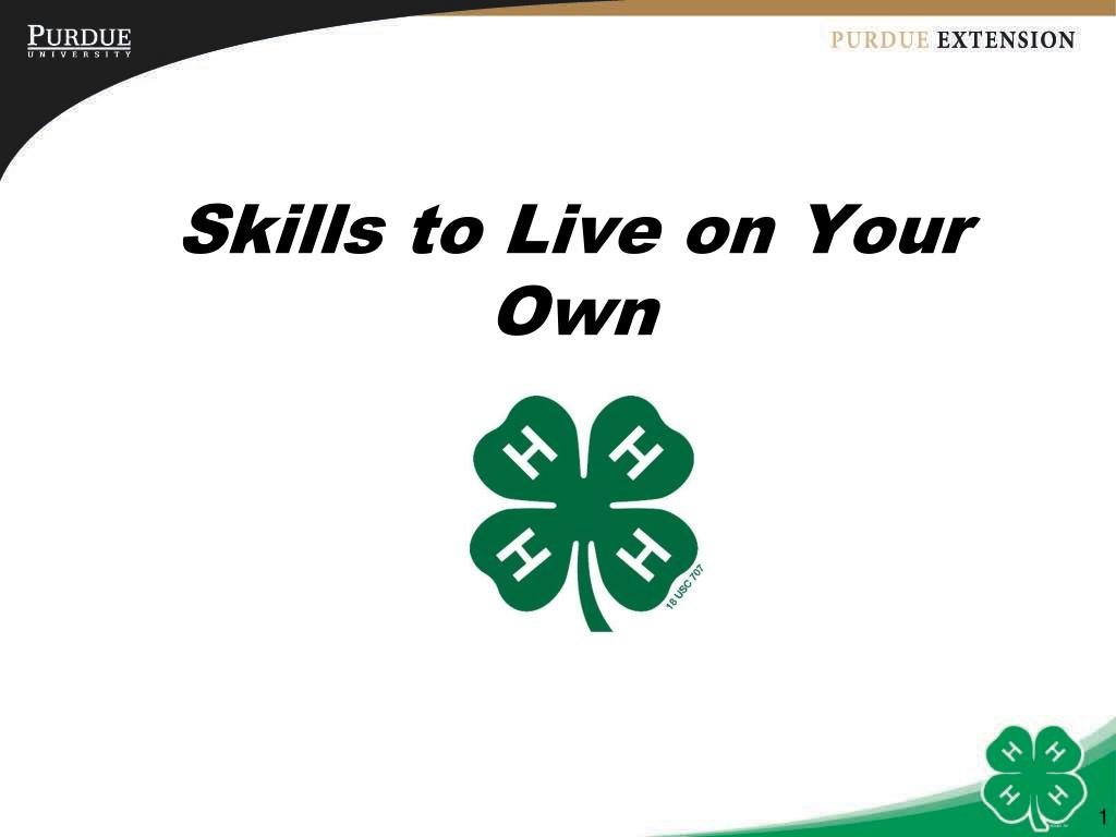 skills to live on your own l.