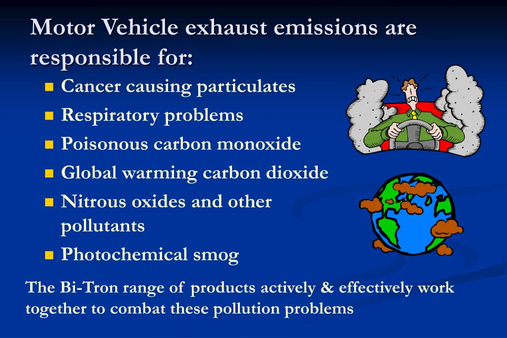 Motor Vehicle exhaust emissions are responsible for: