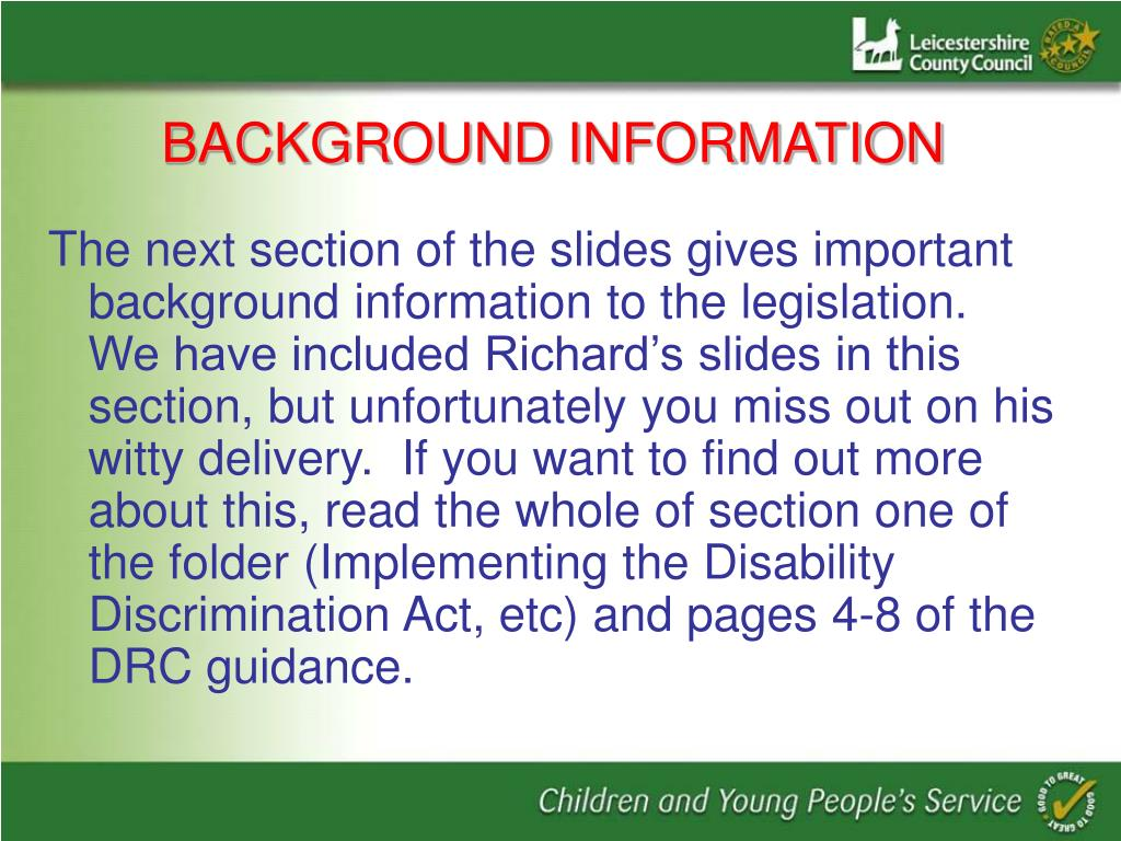 PPT - Disability Equality Scheme (DES) PowerPoint ...