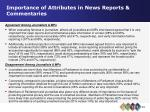 importance of attributes in news reports commentaries25
