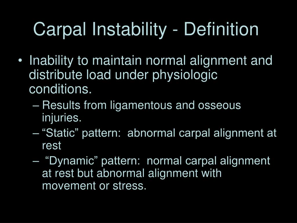 Carpal Instability - Definition