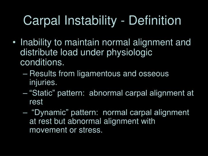 Carpal instability definition