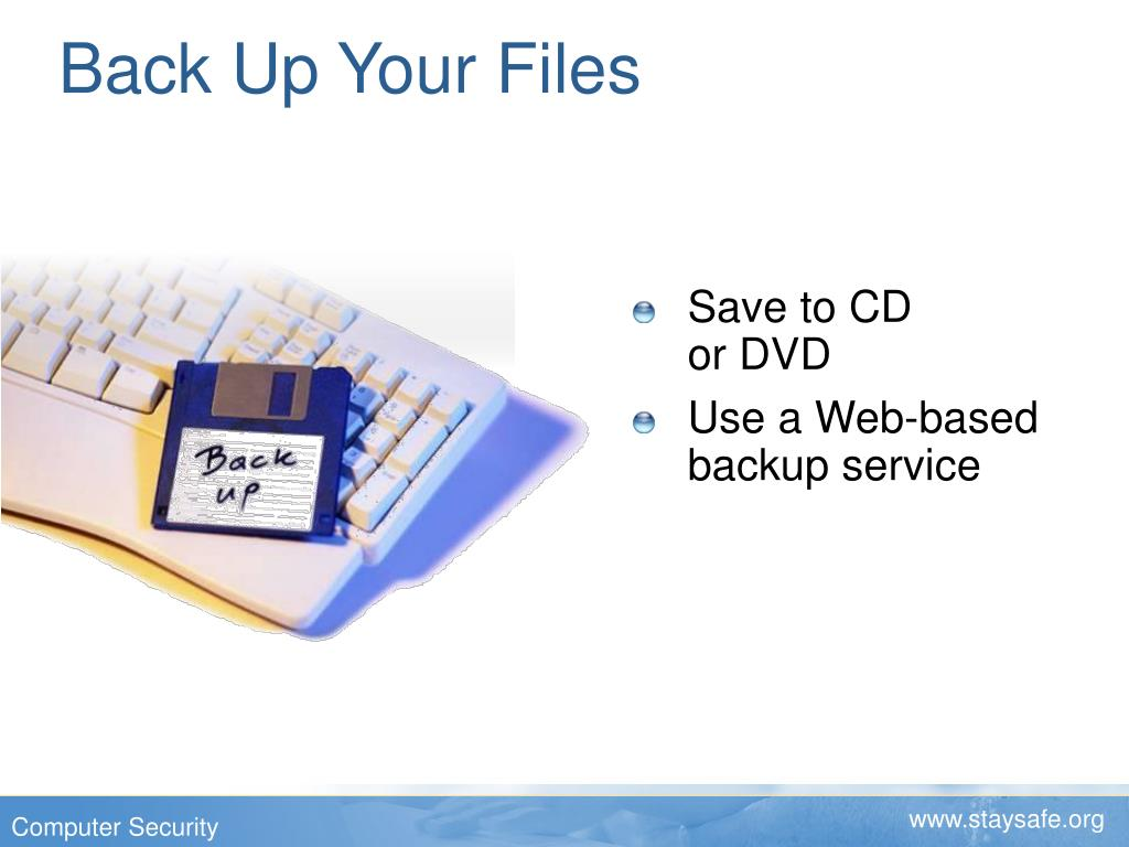 Back Up Your Files