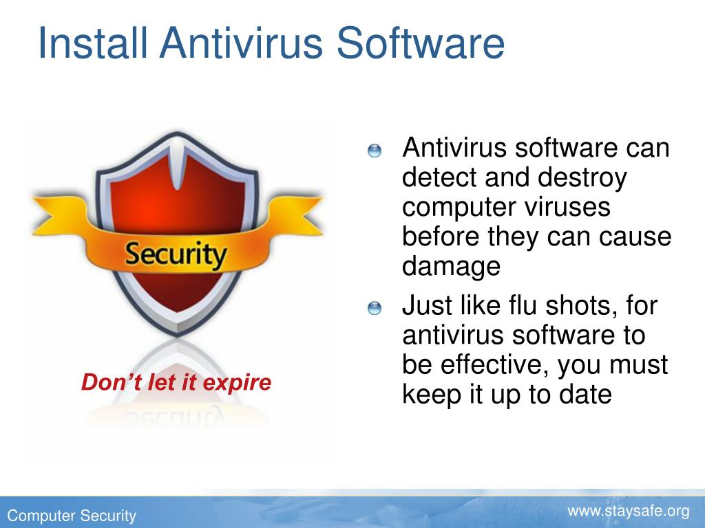 Install Antivirus Software