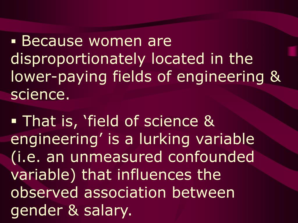 Because women are disproportionately located in the lower-paying fields of engineering & science.