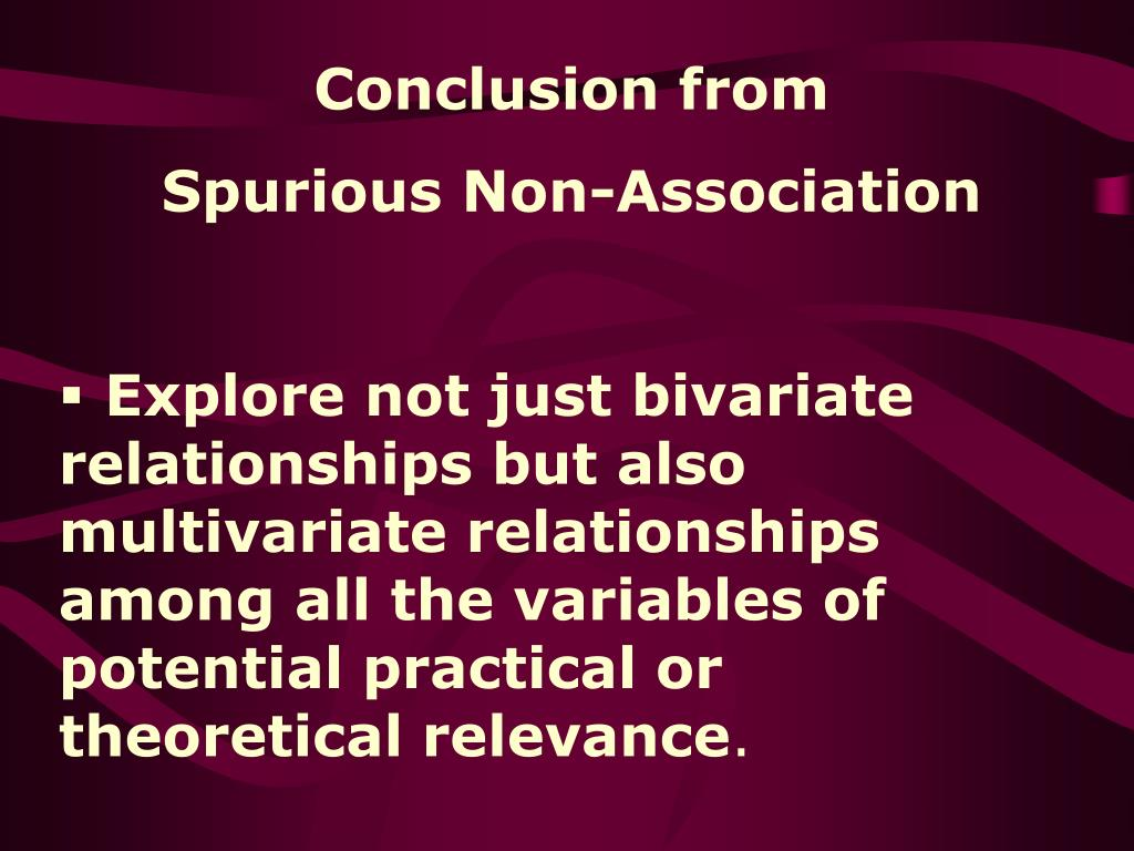 Conclusion from