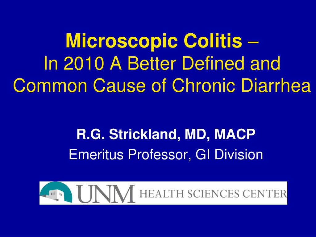 ppt - microscopic colitis – in 2010 a better defined and common