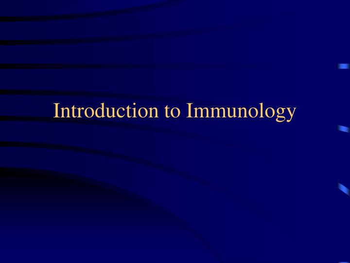 introduction to immunology n.