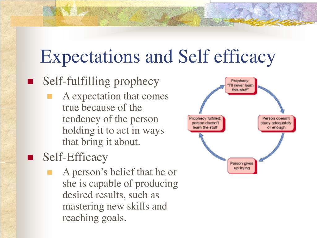 Expectations and Self efficacy